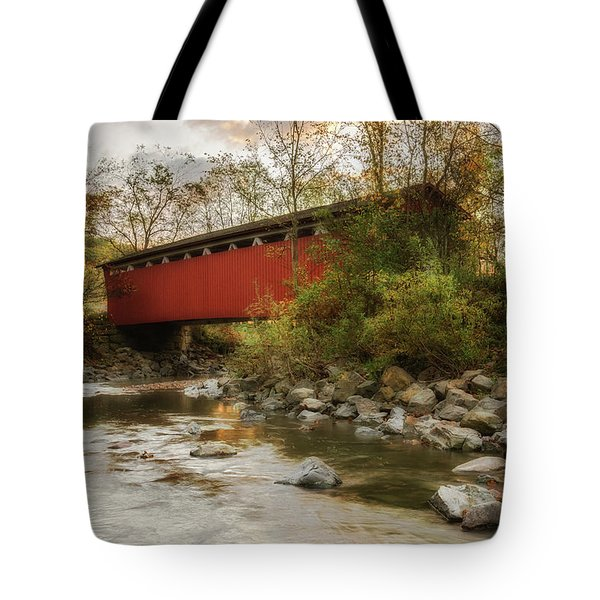 Tote Bag featuring the photograph Spanning Across The Stream by Dale Kincaid