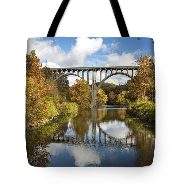 Spanning The Cuyahoga River Tote Bag