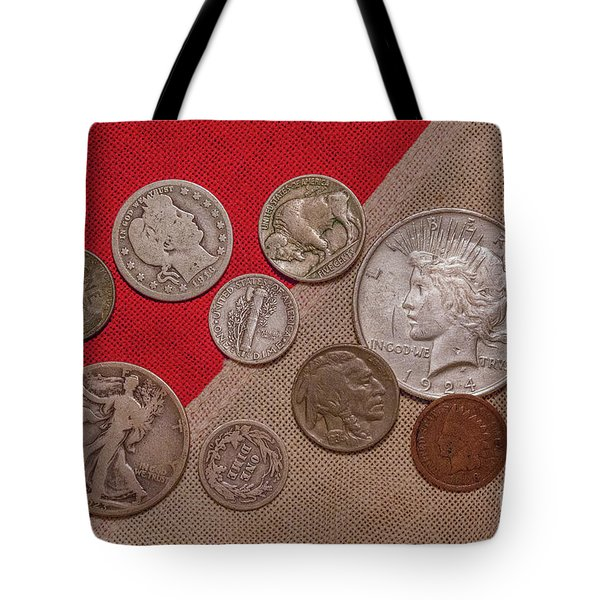 Tote Bag featuring the digital art Spare Change Ver One by Randy Steele