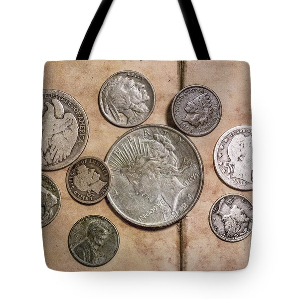 Tote Bag featuring the digital art Spare Change Ver Two by Randy Steele
