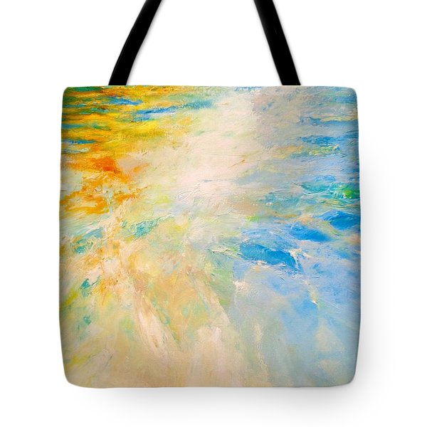 Tote Bag featuring the painting Sparkle And Flow by Dina Dargo