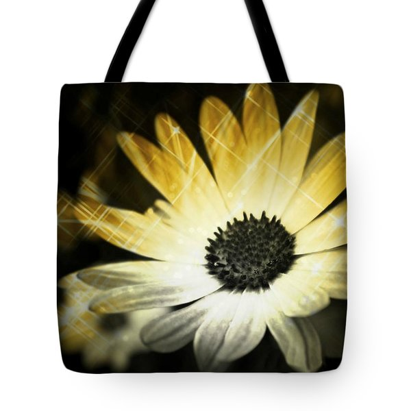 Sparkle Daisies Tote Bag by Robin Regan