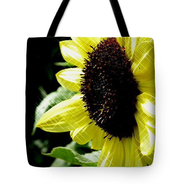 Sparkle Sunflower Tote Bag