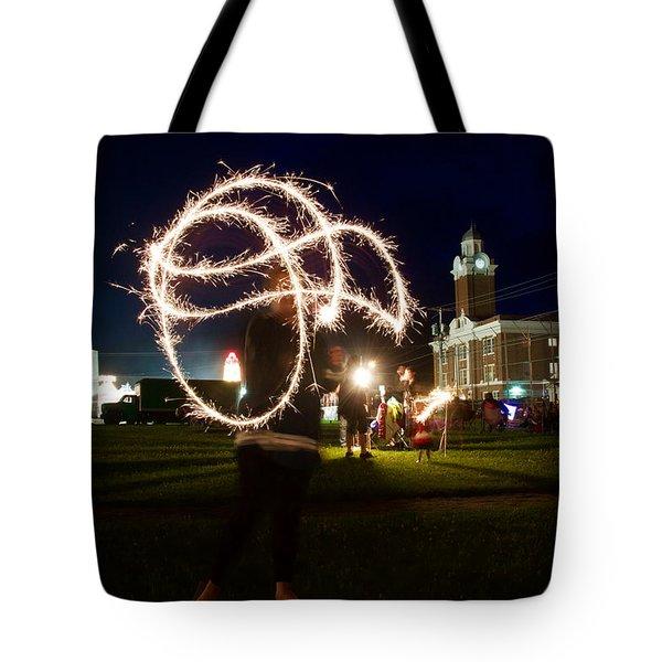 Sparkler Art Tote Bag