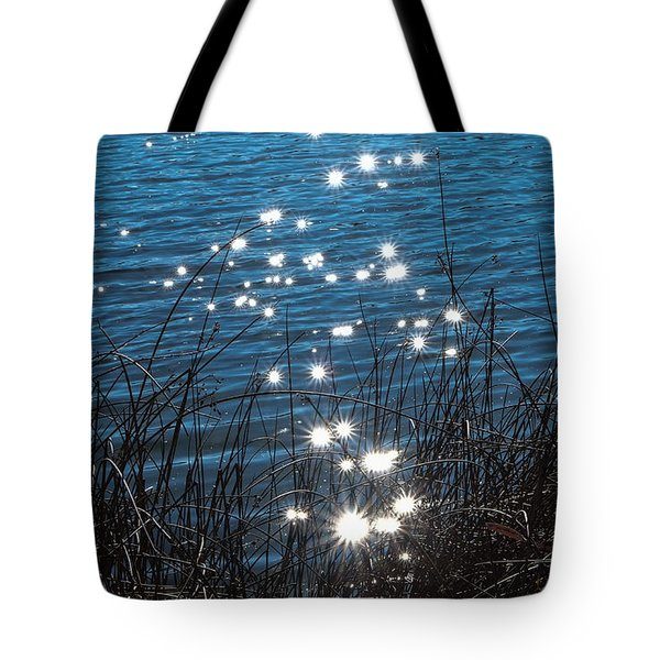 Tote Bag featuring the photograph Sparkles At Riverbend Ponds by Monte Stevens