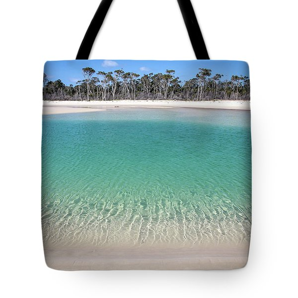 Sparkling Beach Lagoon On Deserted Beach Tote Bag