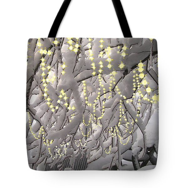 Sparkling Christmas Card Tote Bag by R  Allen Swezey
