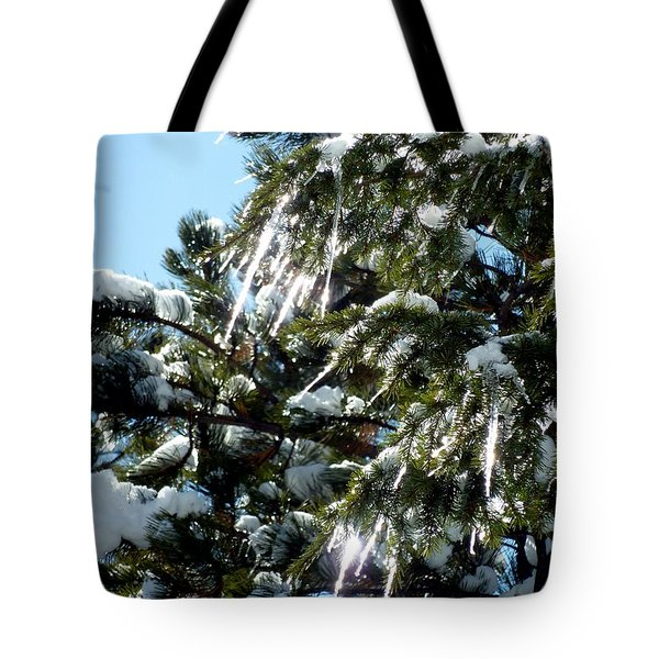 Sparkling Icicles  Tote Bag
