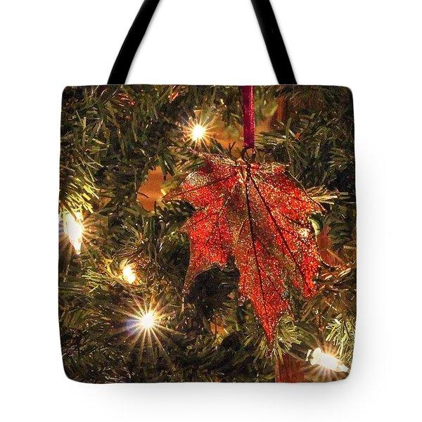 Sparkling Maple Leaf Tote Bag
