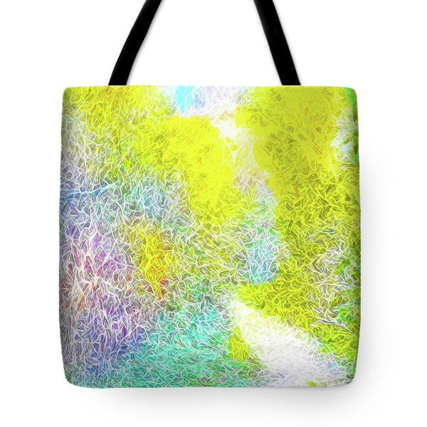 Tote Bag featuring the digital art Sparkling Pathway - Trail In Santa Monica Mountains by Joel Bruce Wallach
