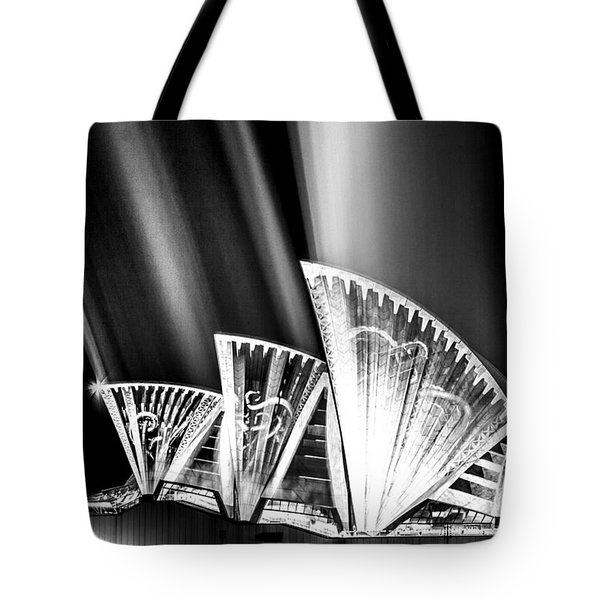 Sparkling Blades Bw Tote Bag