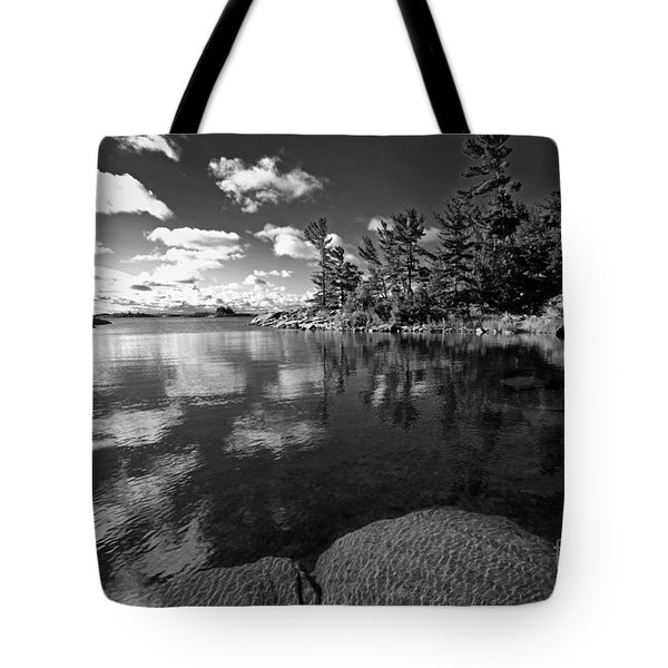 Clouds In Georgian Bay Tote Bag by Charline Xia