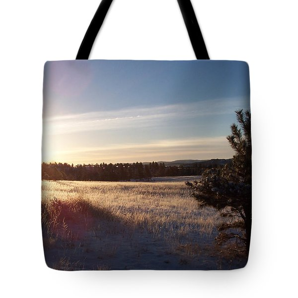 Sparkly Morning Tote Bag