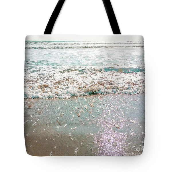 Tote Bag featuring the photograph Sparkly Surf by Cindy Garber Iverson