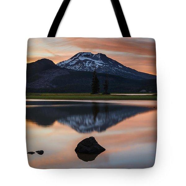 Sparks Lake At Sunset Tote Bag