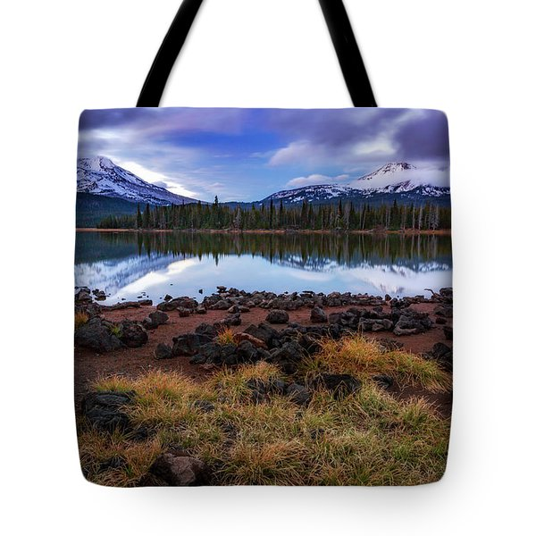 Tote Bag featuring the photograph Sparks Lake by Cat Connor