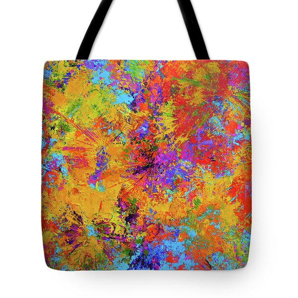 Sparks Of Consciousness Modern Abstract Painting Tote Bag