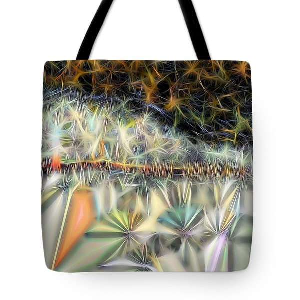 Tote Bag featuring the digital art Sparks by Ron Bissett