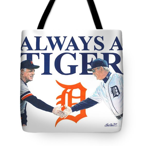 Sparky Anderson And Jim Leyland Tote Bag