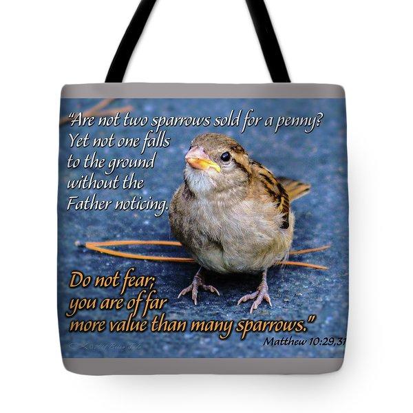 Sparrow Scripture Matthew 10 Tote Bag