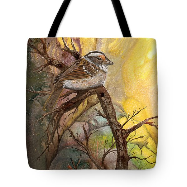 Tote Bag featuring the painting Sparrow by Sherry Shipley