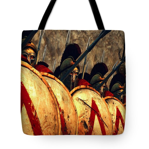 Spartan Army - Wall Of Spears Tote Bag