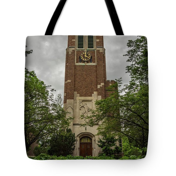 Spartan Bell Tower Tote Bag