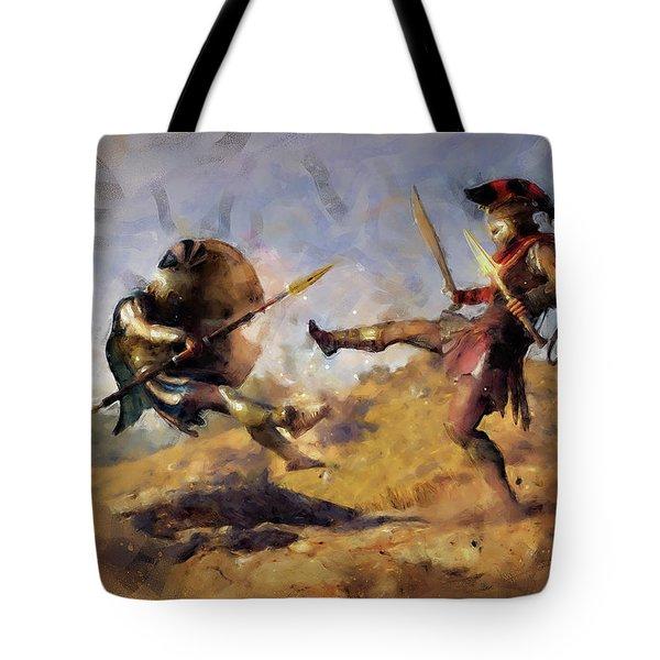 Spartan Hoplite - 12 Tote Bag