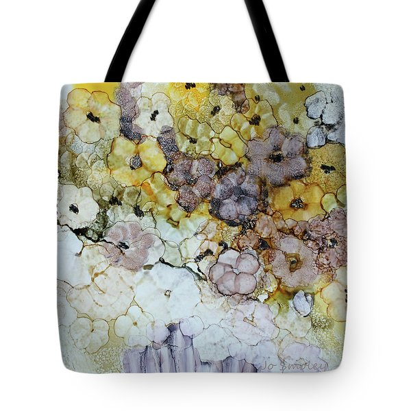 Tote Bag featuring the painting Spash Of Sunshine by Joanne Smoley