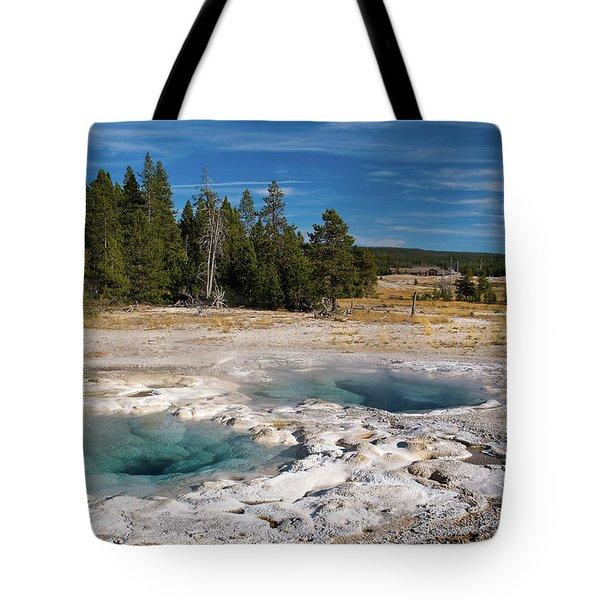 Spasmodic Geyser Tote Bag by Steve Stuller