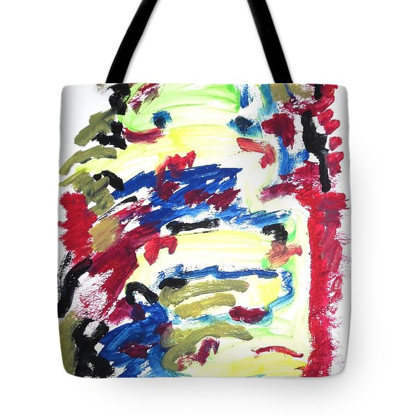 Tote Bag featuring the painting Spatial Outwardness by Esther Newman-Cohen