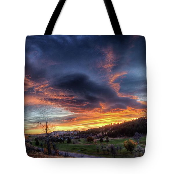 Spearfish Canyon Golf Club Sunrise Tote Bag