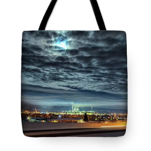 Spearfish Under The Moon Tote Bag by Fiskr Larsen