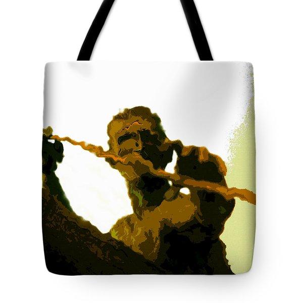 Spearfishing Man Tote Bag by David Lee Thompson