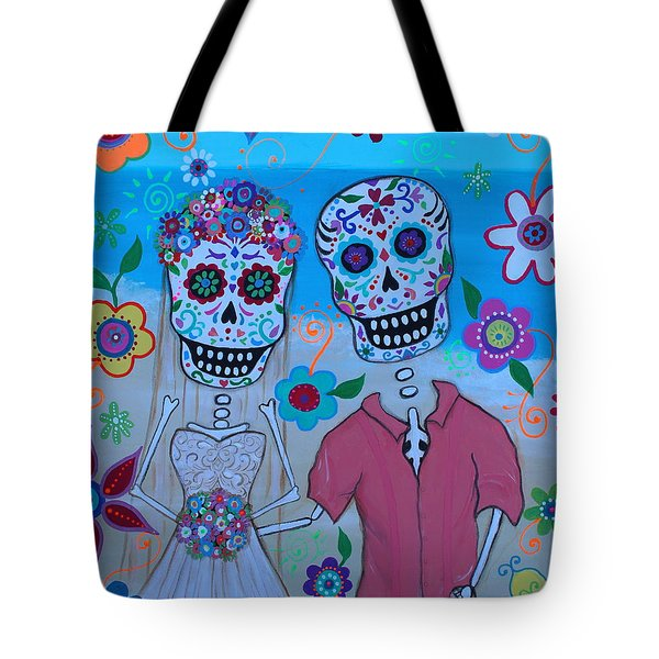 Tote Bag featuring the painting Special Mexican Wedding by Pristine Cartera Turkus