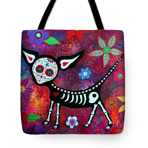 Tote Bag featuring the painting Special Perrito by Pristine Cartera Turkus