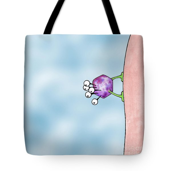 Tote Bag featuring the drawing Speck by Uncle J's Monsters
