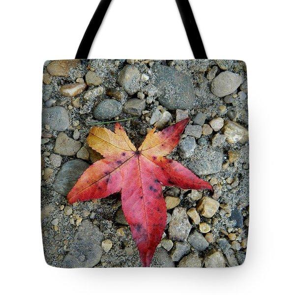 Speckled Red Tote Bag