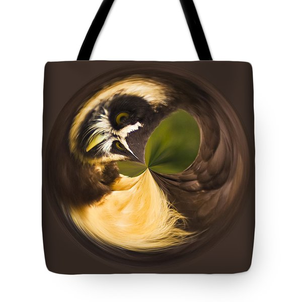Tote Bag featuring the photograph Spectacled Owl Orb by Bill Barber