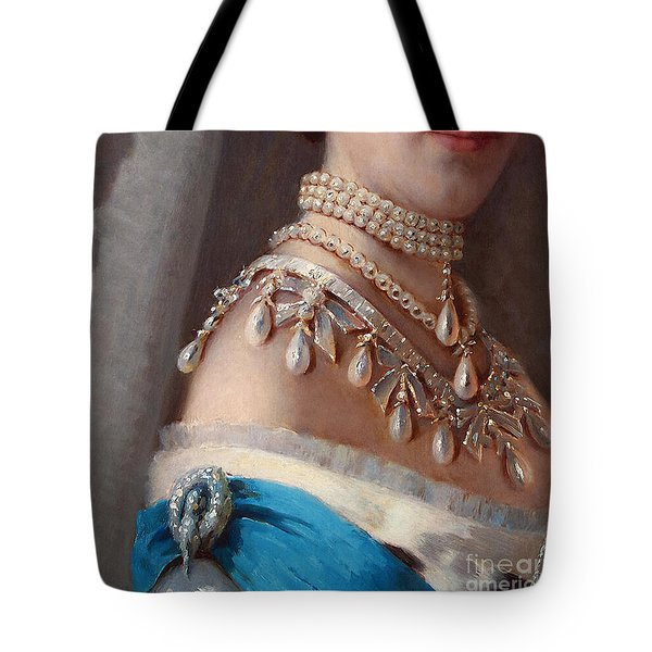 Historical Fashion, Royal Jewels On Empress Of Russia, Detail Tote Bag