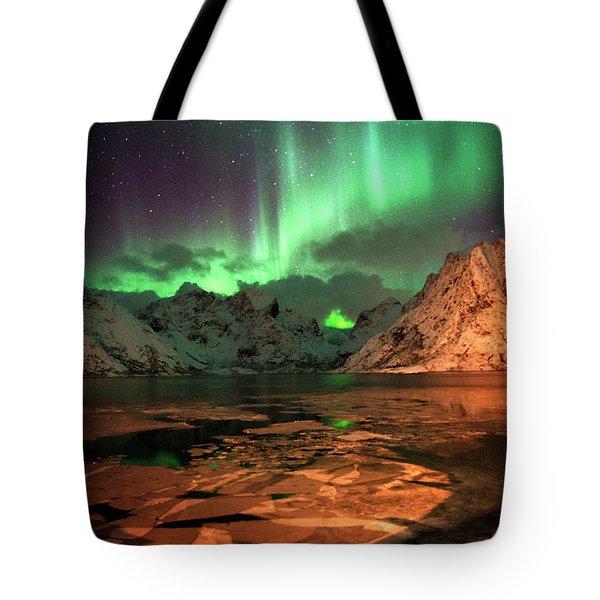 Spectacular Night In Lofoten 1 Tote Bag