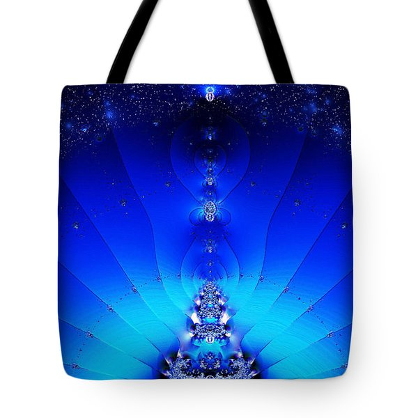 Tote Bag featuring the digital art Spectral Illumination by Mario Carini