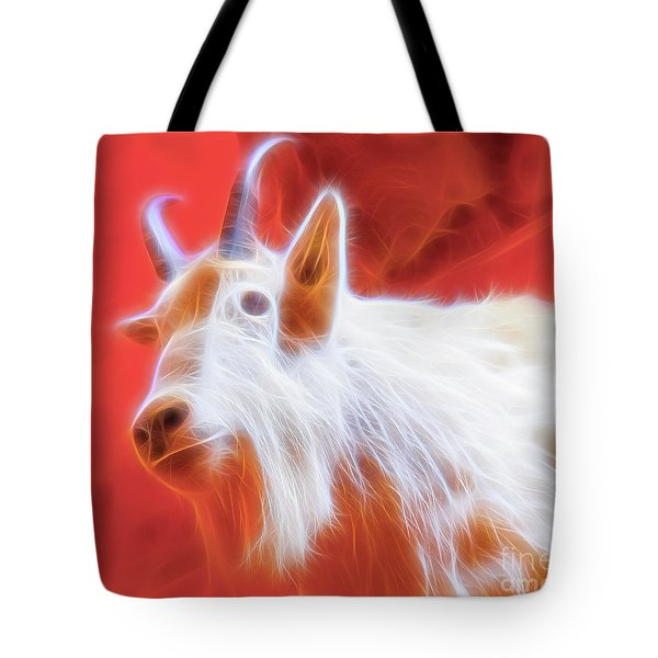 Spectral Mountain Goat Tote Bag