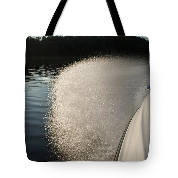 Speed Boat Tote Bag by Gary Eason