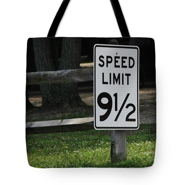 Speed Limit Tote Bag by Vadim Levin