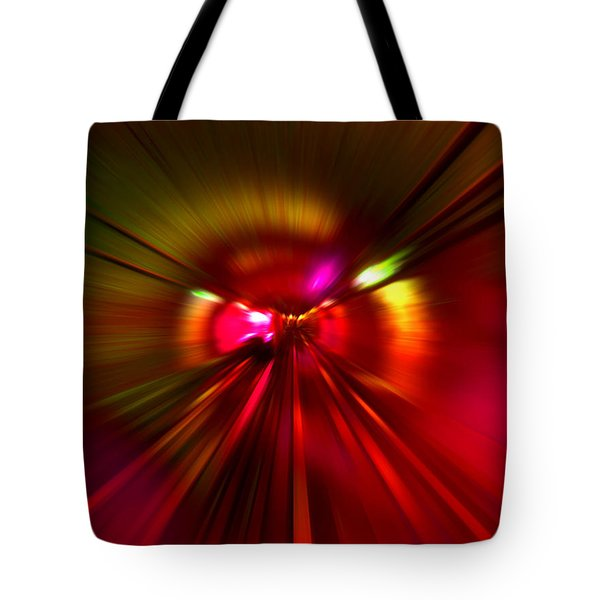 Tote Bag featuring the digital art Speed - Metro Subway Train by Menega Sabidussi