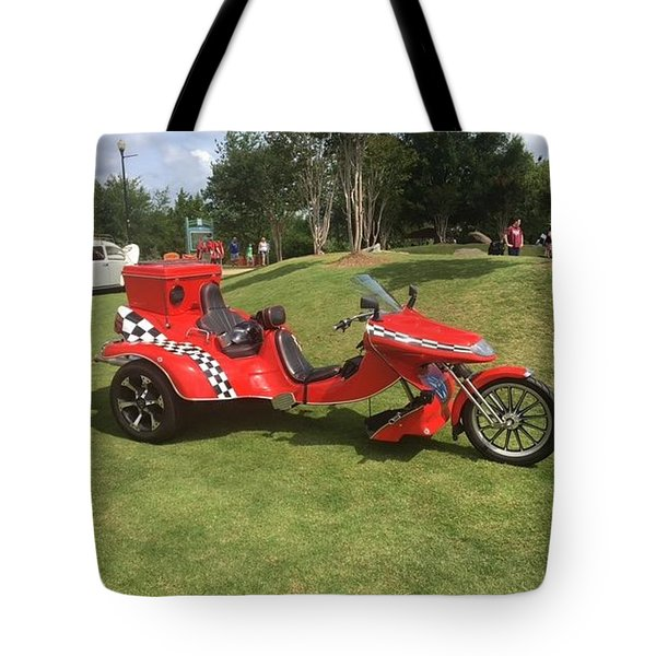 Tote Bag featuring the photograph Speed Racer Trike by Aaron Martens