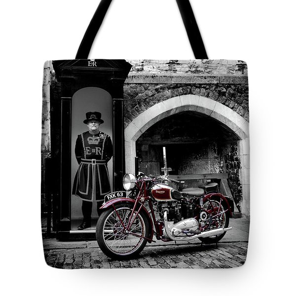 Speed Twin At The Tower Tote Bag by Mark Rogan