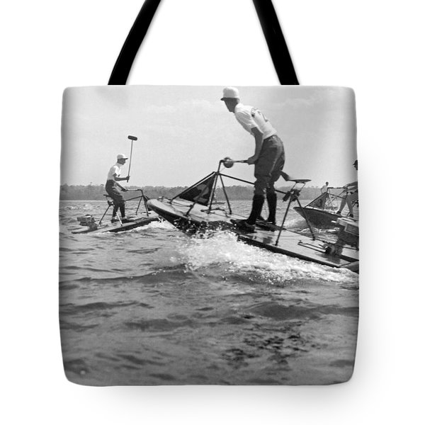 Speedboat Polo Enthusiasts Tote Bag