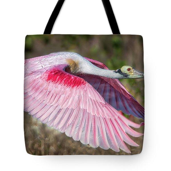 Spoonbill Winging It Tote Bag